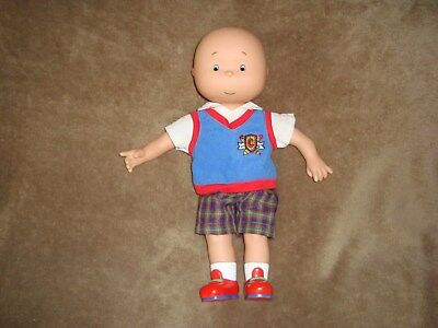 "Caillou Talking English 14"" Doll plush and Plastic"