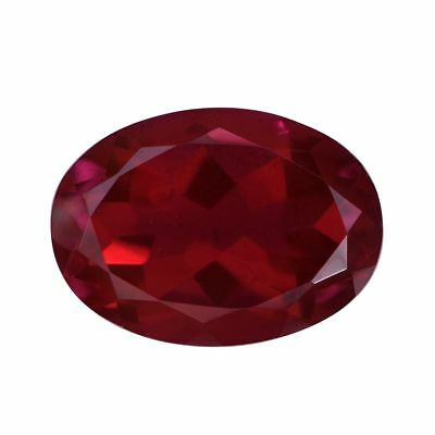 Red Oval Faceted Quartz Red Blazing Quartz 18Mm X 13Mm Quality 1A 11.18 Ct Loose