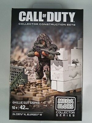 Call of Duty Ghillie Suit Sniper Mega Bloks posable Action Figure Special Ops