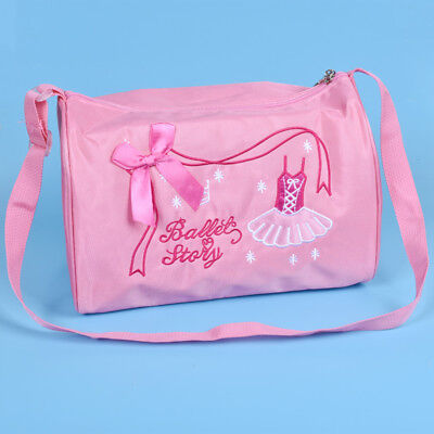 Cute Girls Ballet Duffle Bag Bowknot Embroidered Crossbody Shoulder Pink Bag 8786384a0f583