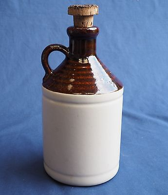 Ceramic Decanter Jug Unmarked Cork Stopper Cider Port
