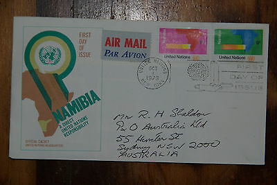 1973 United Nations Namibia First Day Cover