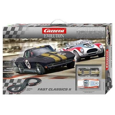 Carrera Evolution Slot Car Set - Fast Classic (II) - '64 Corvette & Shelby Cobra
