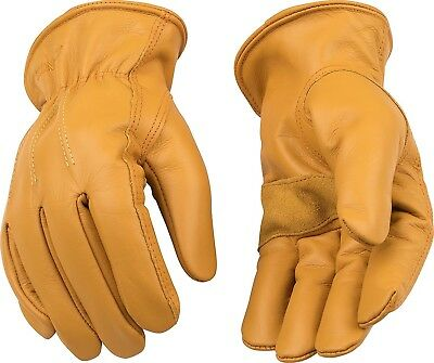 Kinco Lined Insulated Grain Cowhide Leather Winter Work Driver Gloves X-Large