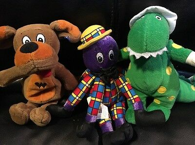 Wiggles Friends Bean Bag Plush Dorothy Dinosaur Wags Dog Henry Octopus Lot