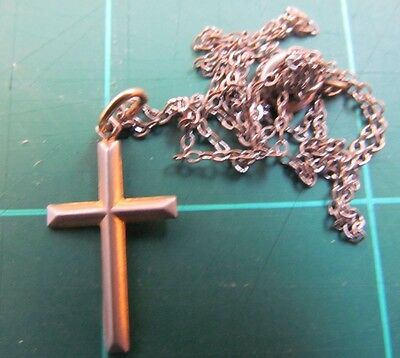 Vintage 1/20 10K GF Crucifix on 14 inch chain 1.5 grams