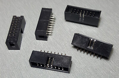 16 Pin IDC socket Vertical PCB Mount 2.54mm 2x8 Male Box header Pack of 5
