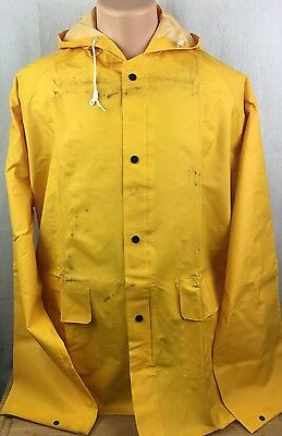 Ribbed PVC Rainsuit ONGUARD 76032 Rain Jacket,Mens,Yellow,2XL,Ribbed PVC - Large