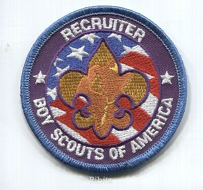 BSA position patch: RECRUITER - round - twill right