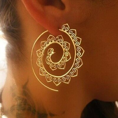 New Women's Fashion Gold/Silver Plated Spiral Heart Alloy Shaped Dangle Earring