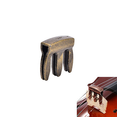 1pc violin viola practice metal mute fiddle silencer 3 prong high quality .*
