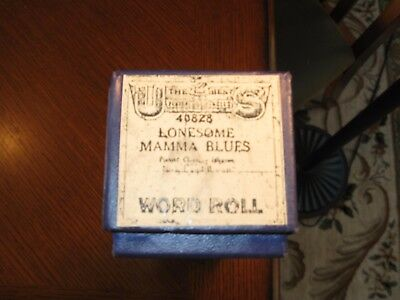 """lonesome Mamma Blues"" Played By Clarence Johnson Recut Piano Roll 1017"
