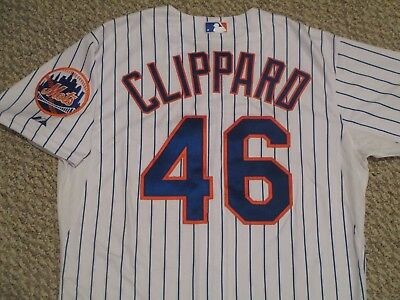 Tyler Clippard sz 44 #46 2015 New York Mets game used jersey Home White MLB HOLO
