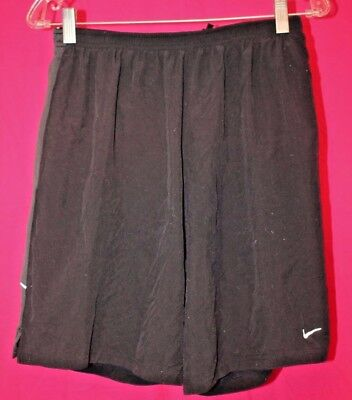 NIKE Dri Fit Black Running Jogging Athletic Shorts Size Large