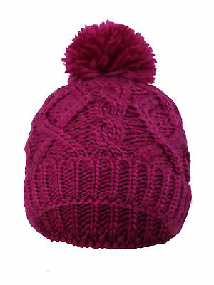 Winter Kids  Super Chunky Cable Knit Beanie with Yarn Pompom – Assorted  Knits 59eee30a1baa