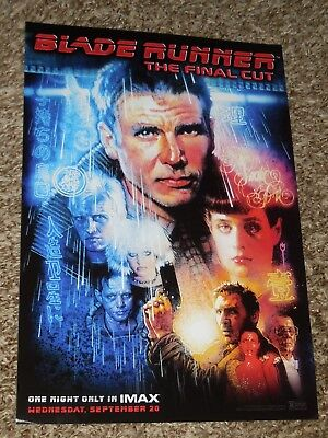 "Blade Runner The Final Cut ""IMAX"" 9x13 Inch Promo Movie POSTER"