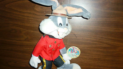 "Vintage Rcmp 12 "" Bugs Bunny Plush Doll With Tag Royal Canadian Mounted Police"