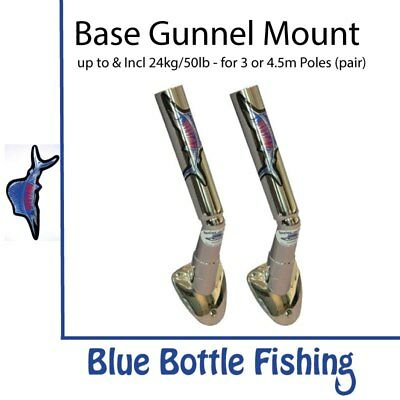 NEW Reelax - Outrigger Base - Gunnel Mount (Pair) from Blue Bottle Fishing