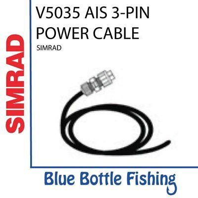 NEW SIMRAD V5035 AIS 3-PIN POWER CABLE from Blue Bottle Fishing
