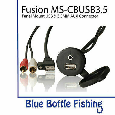 Fusion MS-CBUSB3.5 Panel Mount USB & 3.5mm AUX connector
