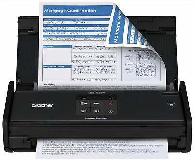 Brother ADS-1000W Compact Color Desktop Scanner with Duplex and Wireless Netw...