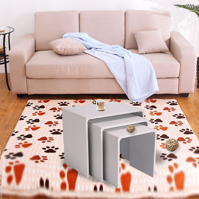 New Nesting End Table Set of 3 Side White Coffee Nested Table Living Room