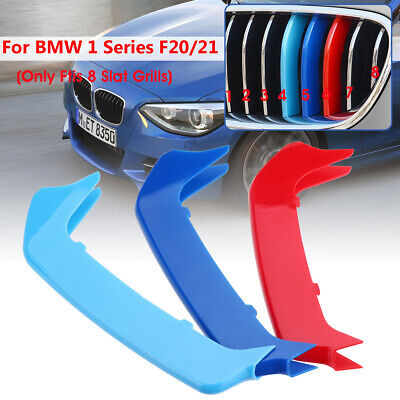 3 Tricolor Sport Grill Grille Strip Cover Trim For BMW M 1 Series F20/F21 12-14