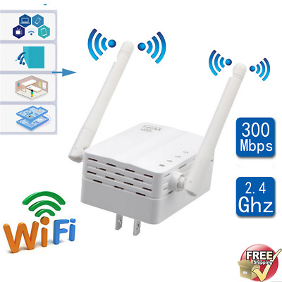 300Mbps WiFi Range Extender Wireless-N Repeater Signal Booster Router LOT SM