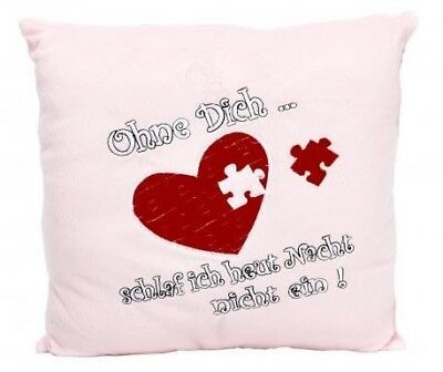 "Plush Pillow "" Without Dich "" 34 x 34 cm"
