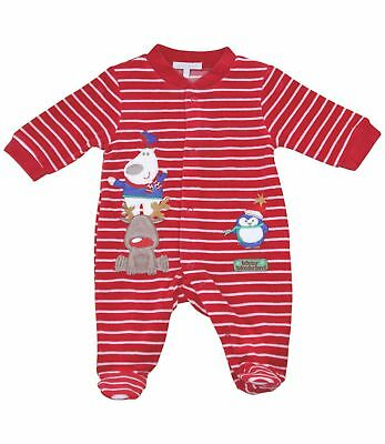 BabyPrem Baby Boys Girls Clothes Red Festive CHRISTMAS Sleepsuit Babygrow Outfit