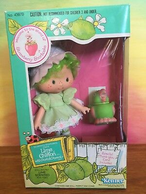 Vintage Strawberry Shortcake: Lime Chiffon And Parfait Parrot, New In Box