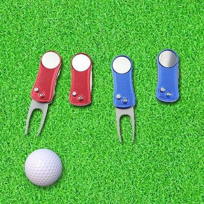 Pitch Repair Divot Switchblade Tool Golf Ball Marker Mark Kit Groove CleanerNew.