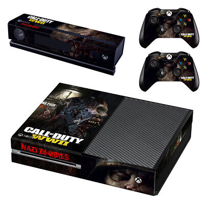 XBox One Console Skin Sticker Protector New Call Of Duty WW2 Z+ 2 Controllers