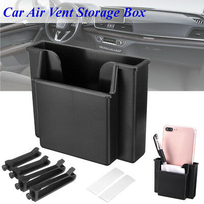 2x Universal Multi-Function Car Storage Box Mobile Phone Pocket Bag Card Pocket