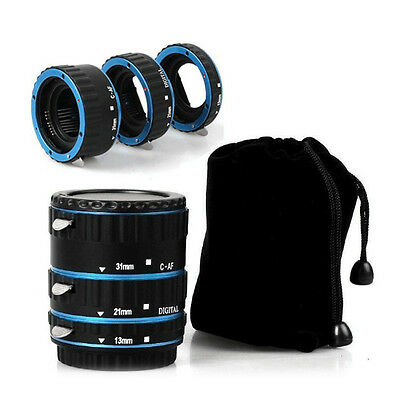 Metal AF Auto Focus Macro Extension Tube/Ring Set for CANON EOS EF-S 5D 5D2 Lens