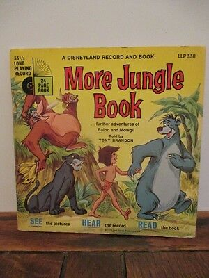 More Jungle Book - A Disneyland Record And Book - 1970 Vintage Vinyl LLP & Book