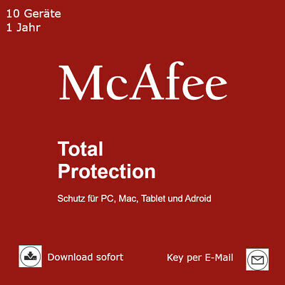 McAfee Total Protection (2018) 10 Geräte 1 Jahr Download