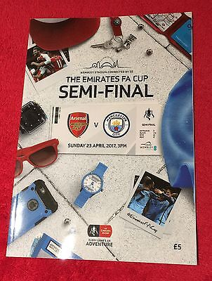 Arsenal V Manchester City 23 April 2017 Fa Cup Semi Final Programme.
