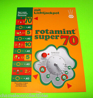 ROTAMINT SUPER 70 By NSM ORIGINAL OLD GERMAN TEXT SLOT GAMBLING MACHINE FLYER