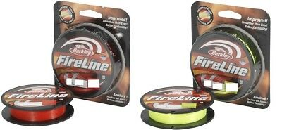 Berkley Fireline Fused Braid (270m-200m) Red or Flame Green HALF RRP