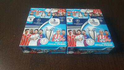 Topps UEFA Champions League 2017/2018 2 Display 60 Booster 300 Sticker