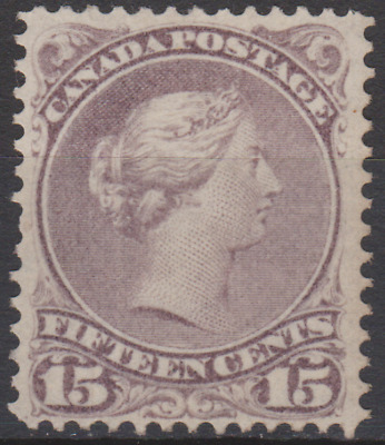 Canada 1860's Large Queen 15c Purple ?? MNH Perf 12 SG ??  LOVELY CENTRE