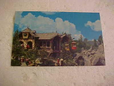 Older Disneyland The Magic Kingdom Skyride Postcard