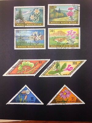 Mongolia Flowers Landscape Stamps 1969 1973 1975
