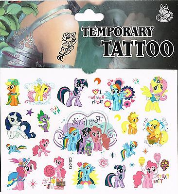 3 x Packet/Sheet | MY LITTLE PONY | Tattoo Party Bag Temporary Tattoo's