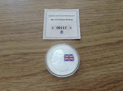 The 12 Greatest Britons Oliver Cromwell Proof Coin & Coa