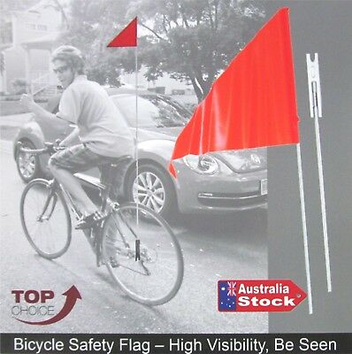 BICYCLE SAFETY FLAG 1.6M in 2 LENGTHS UNI AXLE FITTING, MOBILITY SCOOTER BIKE