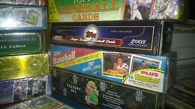 MLB Factory Sealed box lot with UpperDeck Topps Old Baseball in Binder++