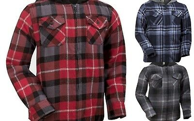 'Faded Glory' Boys Fleece Lined Hooded Flannel Shirt - Ages 4-16 Years