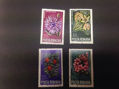 Romania Flowers Stamps
